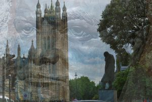 Wisnton Churchill Statue vor Westminster