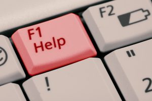 F1 Hilfe Taste auf Tastatur